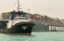 السفينة الجانحة بقناة السويس تسبب ازدحاما كبيرا (صور)