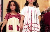 غزة.. عرض أزياء أطفال خاص بالملابس التراثية