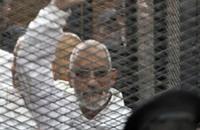بعد شائعة مرضه.. ظهور مرشد الإخوان في إحدى جلسات محاكمته