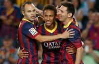 بيكيه يغيب وميسي ونيمار يقودان برشلونة أمام أتليتكو