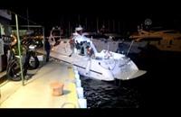 خفر السواحل التركي ينقذ مهاجرين بعد غرق مركبهم (فيديو)