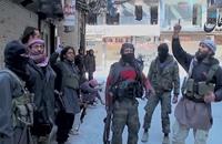 """تنظيم الدولة يتراجع أمام """"أكناف بيت المقدس"""" بمخيم اليرموك"""