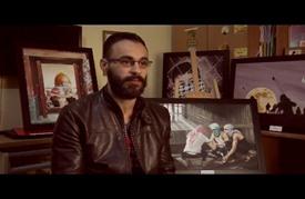 لوحات فنان فلسطيني في لبنان تنطق بحكايا صمود شعبه