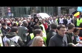 مسيرة حاشدة في بروكسل للتضامن مع ضحايا التفجيرات الأخيرة