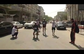 سباق رياضي في غزة تضامنا مع المعتقلين الفلسطينيين