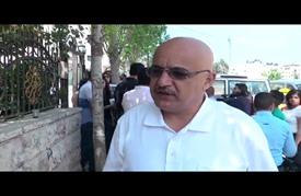وقفة تضامن لصحفيين فلسطينيين مع الصحفي نزال المعتقل لدى الاحتلال