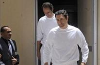 علاء مبارك يظهر في بيت عزاء بالقاهرة (شاهد)