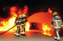 حريق هائل يلتهم برجا في دبي (فيديو وصور)