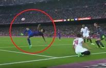 برشلونة يسحق إشبيلية بثلاثية وهدف ساحر لسواريز (فيديو)