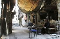 """احتفال وهتافات للأسد جنوب دمشق المدمر بعد """"انتصار"""" النظام"""