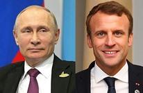 """ماكرون يطالب بوتين بالضغط لـ""""لإنهاء الصراع"""" في سوريا"""