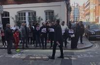 مناوشات بين مؤيدين ومعارضين للسيسي في لندن (شاهد)