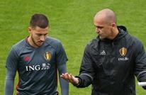 """مدرب بلجيكا يزف نبأ سارا بشأن هازارد..""""محظوظ بسبب كورونا"""""""