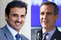عمدة لوس أنجلوس يشكر أمير قطر إزاء هبة لأهالي المدينة