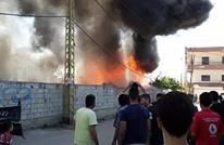 مصرع رضيع بحريق مخيم للاجئين السوريين في لبنان (شاهد)
