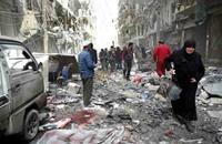 42 قتيلا وعشرات الجرحى بقصف جوي لجامع بريف حلب (فيديو)