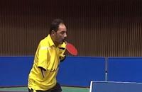 مصري مبتور الذراعين يلعب تنس الطاولة بأسنانه (فيديو)