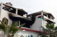 هجوم صاروخي على قناة تلفزيونية ليبية