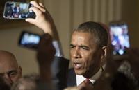 أوباما يشاهد والأسرة مسرحية غنائية عن أحد مؤسسي أمريكا (فيديو)