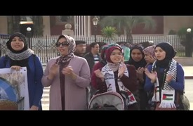 """وقفة تضامنية بالعاصمة المغربية في الذكرى 68 لـ""""نكبة"""" فلسطين"""