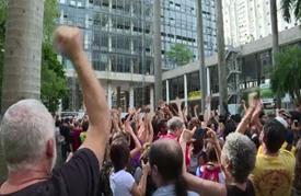 تظاهرة في البرازيل احتجاجا على قرار الحكومة إلغاء وزارة الثقافة