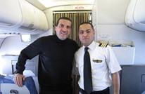 عمرو خالد ينشر صورة له مع قائد الطائرة المصرية المنكوبة