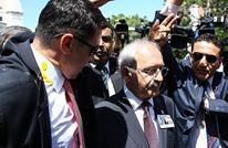 هجوم بالبيض على رئيس حزب الشعب الجمهوري التركي