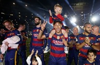 كيف احتفل فريق برشلونة بالفوز بكأس ملك إسبانيا؟