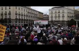 مظاهرات احتجاجية في اسبانيا ضد سياسات التقشف المستمرة منذ 2008