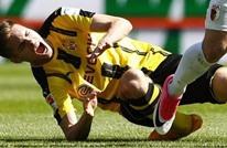 """لاعب دورتموند يتعرض لإصابة """"مروعة"""" في كاحله (فيديو)"""