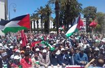 آلاف المغاربة يحتجون ضد نقل سفارة أمريكا إلى القدس (شاهد)