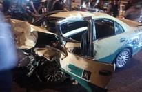 """وفاتان بحادث مروّع بين """"دوريّة"""" وسيارة أجرة بالأردن (شاهد)"""