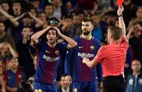 إيقاف مدافع برشلونة لاعتدائه على مارسيلو  في الكلاسيكو