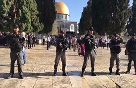 اعتقال مصلين بالأقصى تزامنا مع اقتحام المستوطنين (شاهد)