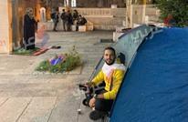 """عربي21"""" تحاور أول مبعد ينصب خيمة على أبواب الأقصى (صور)"""
