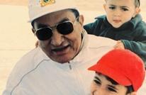 """صورة نادرة تجمع """"مبارك"""" بحفيديه.. أحدهما رحل"""