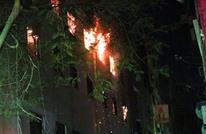 حريق هائل بكنيسة في الجيزة ناتج عن خلل كهربائي (شاهد)