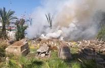اندلاع حريق في مقبرة إسلامية بمدينة حيفا (شاهد)