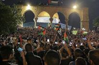 """فلسطينيون بالقدس يهتفون """"الشعب يريد إسقاط الرئيس"""" (شاهد)"""