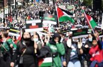 مغني راب يلهب حماس متظاهرين داعمين لفلسطين بلندن (شاهد)