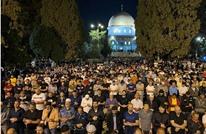 """تفاعل كبير مع """"تراويح"""" ليلة القدر في المسجد الأقصى (شاهد)"""