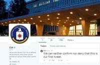 """""""CIA"""" تطلق حسابين على تويتر وفيسبوك"""