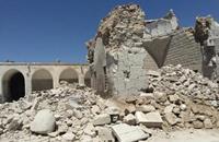 طيران الأسد يدمر متحف معرة النعمان الذي يضم أكبر مجموعة فسيفسائية