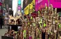 إتلاف طن من القطع العاجية في قلب نيويورك