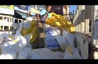 أتراك يبيعون ثلج الجبال في أشهر الصيف الحار