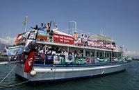 """""""حماس"""" و """"النهضة"""" تدينان قرصنة أسطول الحرية 3"""