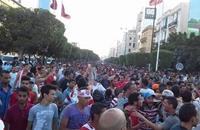 أنصار الإفريقي التونسي يحتفلون بتتويج فريقهم بالدوري