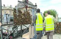 """إزالة """"أقفال الحب"""" من جسر باريسي شهير"""
