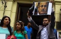 حرق صور وزير الداخلية بأول إضراب نقابي بعهد السيسي