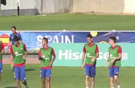 استعداد المنتخب الإسباني لمواجهة نظيره الإيطالي الاثنين